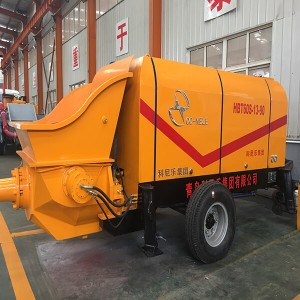 Electric/diesel concrete pump